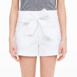 Club Monaco Tie Waist Short, White